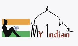 Ejemplo del vector de la India Imágenes de archivo libres de regalías