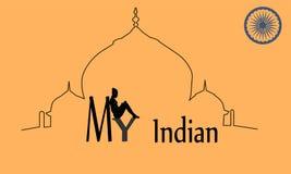 Ejemplo del vector de la India Foto de archivo libre de regalías