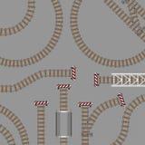 Ejemplo del vector de la ingeniería del metro del equipo de la estructura de la tecnología concreta del mantenimiento de los carr libre illustration