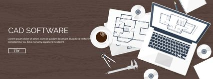 Ejemplo del vector de la ingeniería y de la arquitectura Dibujo y construcción Proyecto arquitectónico El bosquejar del diseño ilustración del vector