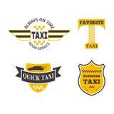 Ejemplo del vector de la insignia del taxi Foto de archivo libre de regalías