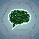 Ejemplo del vector de la inteligencia artificial de la placa de circuito en gris claro stock de ilustración
