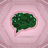 Ejemplo del vector de la inteligencia artificial de la placa de circuito en rosa libre illustration