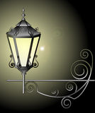 Ejemplo del vector de la lámpara de calle Imágenes de archivo libres de regalías