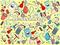 Ejemplo del vector de la limpieza Foto de archivo