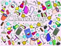 Ejemplo del vector de la limpieza Imagen de archivo