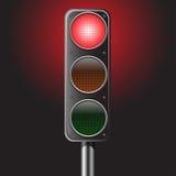 Ejemplo del vector de la luz roja del tráfico Foto de archivo libre de regalías