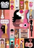 Ejemplo del vector de la música Imagen de archivo libre de regalías
