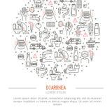 Ejemplo del vector de la medicina de la diarrea stock de ilustración
