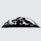 Ejemplo del vector de la montaña Imagen de archivo
