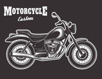 Ejemplo del vector de la motocicleta en fondo oscuro libre illustration