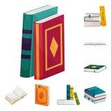 Ejemplo del vector de la muestra de la biblioteca y de la librer?a Colecci?n de s?mbolo com?n de la biblioteca y de la literatura stock de ilustración