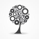 Ejemplo del vector de la muestra del árbol del icono del engranaje Imágenes de archivo libres de regalías