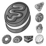 Ejemplo del vector de la muestra del dulce y del caramelo Fije del s?mbolo com?n dulce y culinario para la web ilustración del vector