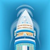 Ejemplo del vector de la opinión superior de la nave Fotos de archivo libres de regalías
