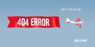 Ejemplo del vector de la página del error de la plantilla 404 Foto de archivo