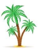 Ejemplo del vector de la palmera Imágenes de archivo libres de regalías