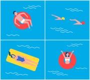 Ejemplo del vector de la persona de varones del hombre de vacaciones libre illustration