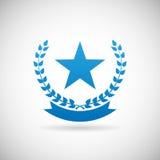 Ejemplo del vector de la plantilla del diseño del icono de Troph del símbolo del premio Imagenes de archivo