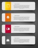 Ejemplo del vector de la plantilla del negocio de Infographic Fotografía de archivo