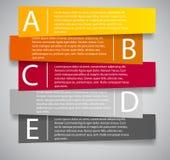 Ejemplo del vector de la plantilla del negocio de Infographic Foto de archivo