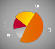 Ejemplo del vector de la plantilla del negocio de Infographic Fotografía de archivo libre de regalías