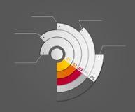 Ejemplo del vector de la plantilla del negocio de Infographic Imagen de archivo