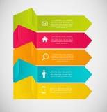 Ejemplo del vector de la plantilla del negocio de Infographic Foto de archivo libre de regalías