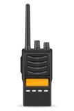Ejemplo del vector de la radio de la comunicación del Walkietalkie ilustración del vector
