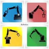 Ejemplo del vector de la robótica del icono del App Imagen de archivo libre de regalías