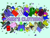 Ejemplo del vector de la ropa de los hombres Foto de archivo