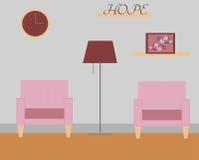 Ejemplo del vector de la sala de estar Imagen de archivo libre de regalías