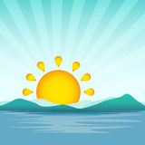 Ejemplo del vector de la salida del sol Fotografía de archivo libre de regalías