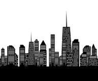Ejemplo del vector de la silueta de las ciudades Imagen de archivo