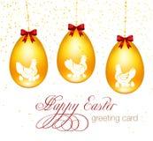 Ejemplo del vector de la tarjeta de felicitación de Pascua Fotografía de archivo