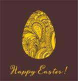 Ejemplo del vector de la tarjeta de felicitación de Pascua Imagen de archivo libre de regalías