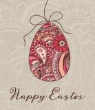 Ejemplo del vector de la tarjeta de felicitación de Pascua Fotos de archivo libres de regalías