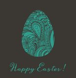 Ejemplo del vector de la tarjeta de felicitación de Pascua Imágenes de archivo libres de regalías