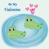 Ejemplo del vector de la tarjeta de la tarjeta del día de San Valentín Imagenes de archivo