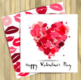 Ejemplo del vector de la tarjeta del día de San Valentín Fotos de archivo libres de regalías