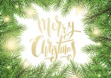 Ejemplo del vector de la tarjeta de felicitación de la Navidad stock de ilustración