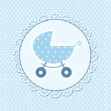 Ejemplo del vector de la tarjeta de la fiesta de bienvenida al beb? fotografía de archivo libre de regalías