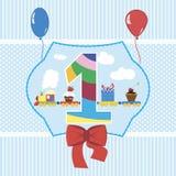 Ejemplo del vector de la tarjeta de la fiesta de bienvenida al beb? imágenes de archivo libres de regalías