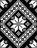 Ejemplo del vector de la textura del bordado del adorno del mosaico stock de ilustración