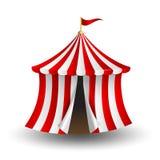 Ejemplo del vector de la tienda de circo con la bandera Imagen de archivo libre de regalías