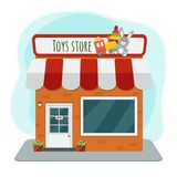 Ejemplo del vector de la tienda de juguetes libre illustration