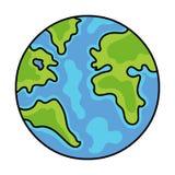 Ejemplo del vector de la tierra, dibujo del orbe del globo ilustración del vector