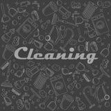 Ejemplo del vector de la tiza de la limpieza Foto de archivo libre de regalías