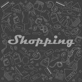 Ejemplo del vector de la tiza de las compras Imagenes de archivo