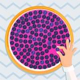 Ejemplo del vector de la torta de la baya Imagen de archivo libre de regalías